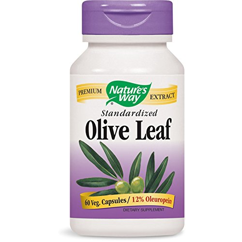 Nature's Way Olive Leaf, Premium Extract Supplement, 250 mg per serving, 60 Capsules (Best Way To Take Olive Leaf Extract)