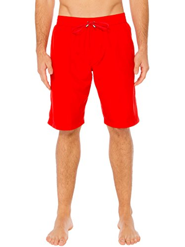Silwave Men's Classic Swim Trunk, Red, - Swim Trunks European Men's