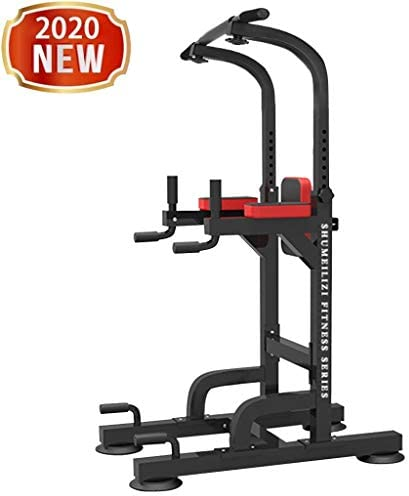 Power Tower Dip Station - Home/Gym Pull Up Bar for Calisthenics, Parallette Exercise, Abdominal/Strength Training, Indoor Fitness/Workout - Adjustable Heavy Duty Dip Station Stand Body Press Bar