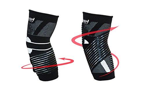Venom Strapped Elbow Brace Compression Sleeve - Elastic Support for Tendonitis Pain, Tennis Elbow, Golfer's Elbow, Arthritis, Bursitis, Basketball, Baseball, Golf, Lifting, Sports, Men, Women (Medium) by Venom Sports Fitness (Image #1)