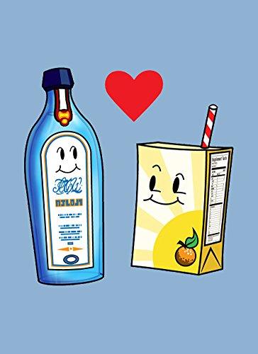 Gin Loves Orange Juice Cute Humor Design - Rectangle Refrigerator Magnet (Humor Magnet Rectangle)