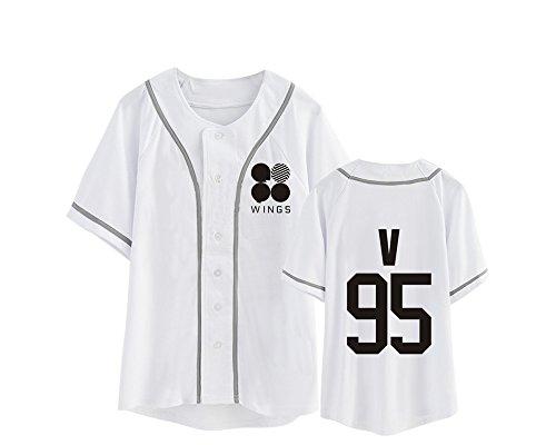 Bangtan KPOP Tayaho Boys Unisex Girocollo Tshirt Manica Camicie Corta BTS BTS White14 Maglietta Popolare Top Lovers cYqYxT5n