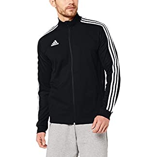adidas Herren TIRO19 TR JKT Sport Jacket, Black/Black/White, M 9