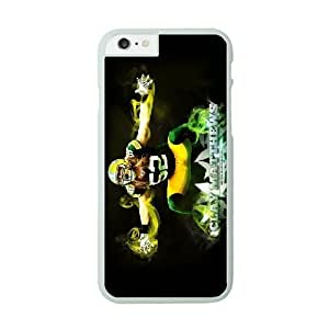 NFL Case Cover For Apple Iphone 6 4.7 Inch White Cell Phone Case Green Bay Packers QNXTWKHE0922 NFL Plastic 3D Phone