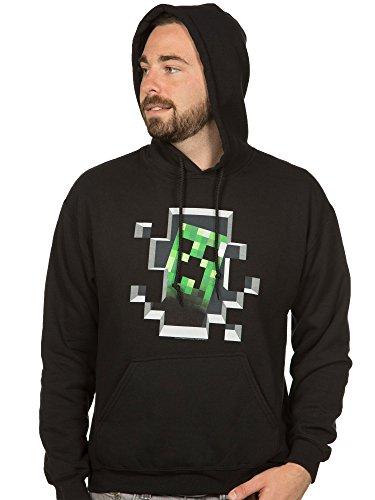 JINX Minecraft Men's Creeper Inside Pullover Hoodie (Black, XX-Large) ()