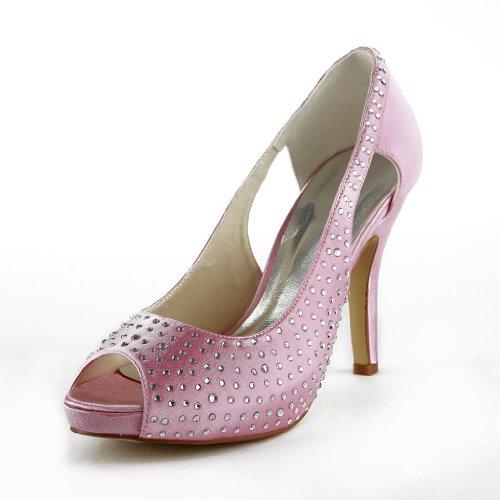 Jia Jia Wedding 37034 Hochzeitsschuhe Brautschuhe Damen Pumps Pink