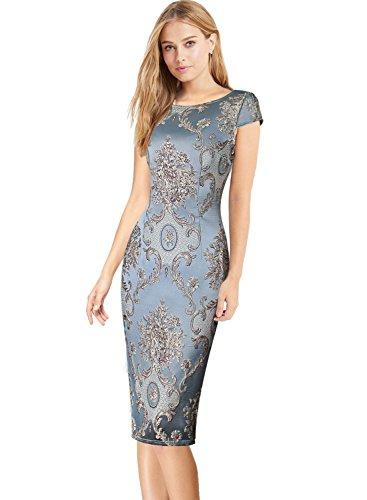 Jacquard Sheath Dress - 7