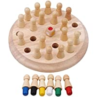 Grizzly® Classic Wooden Memory Chess Intelligence Game Kids , Learning Intellectual Toy Gift, Color