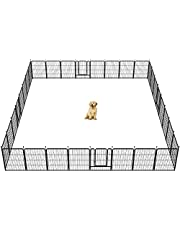 """FXW Dog Playpen Outdoor, 8/16/24/32 Panels Dog Pen Indoor 32"""" Height Dog Fence Exercise Pen with Doors for Large/Medium/Small Dogs, Pet Puppy Outdoor Playpen Pen for RV, Camping, Yard"""