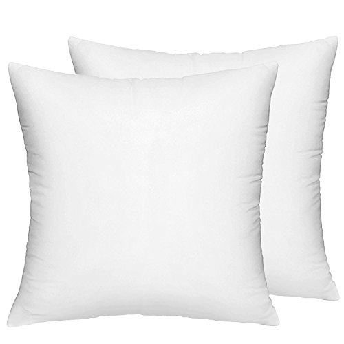 HIPPIH 2 Pack 18 x 18 Pillow Inserts, Hypoallergenic Decorative Square Pillow Form Insert ()