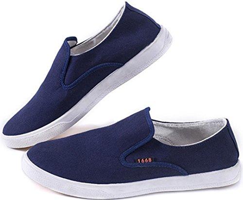 Scarpe In Tela Satuki Per Uomo, Scarpe Mocassini, Pull Casual In Morbido Sneaker Da Allenamento Leggero E Sportivo Blu