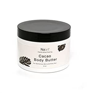 All-Natural Organic Body Butter for Skin and Hair Care- 8 ounces- Cacao Shea Scented
