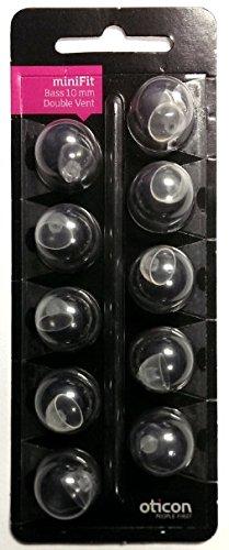 Oticon MiniFit Double Vent Bass Domes: 10-pack (Large - Double Vent
