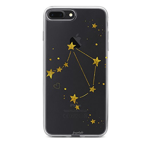 Libra Zodiac (Compatible with iPhone 8 Plus,Girl Cute Zodiac Sign Libra Cute Funny Cute Girls Teens Starry Funny Moon Star Milky Way Libra Zodiac Clear Soft Case Replacement for iPhone 8 Plus/iPhone 7 Plus)
