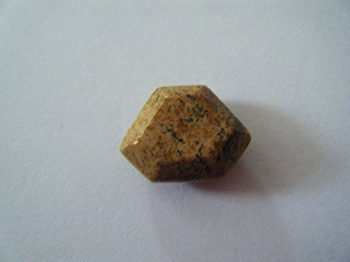 Bead, Picture Jasper Gemstone Faceted Top Drill Tradezoid Pendant Bead 20mm - ()