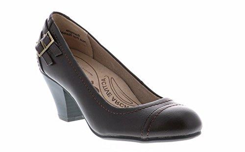 LifeStride Women's Give Dress Pump, Dark Chocolate 2, 7.5 M US (Dark Brown Women Dress Shoes)