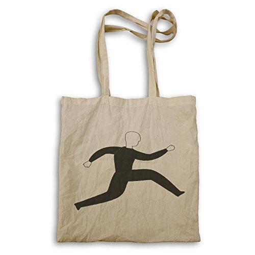 Mann, der laufende lustige Geschenk-Kunst laufen lässt Tragetasche d755r
