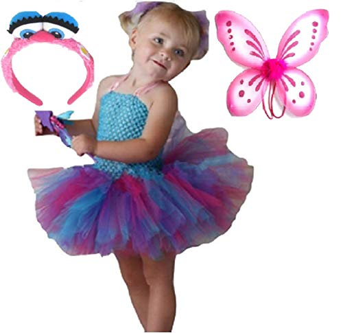 Fairy Abby Gadabby Costume Tutu Dress/Headband/ Wings from Chunks of Charm (4T, Tutu Dress) by Chunks of Charm Dot Com