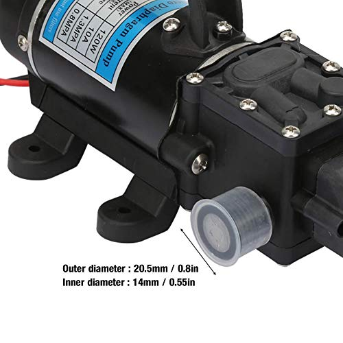 Durable Water Pump, Electric High Pressure Water Pump, 12V/24V 120W for High Pressure Washer Garden Watering(24V 3210YD-24-120FS)