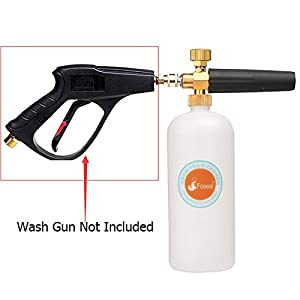 Foseal Car Wash Pressure Washer Adjustable Foam Cannon 1 Liter Bottle, Snow Foam Lance With 1/4 Quick Connector Foam Blaster for Pressure Washer Gun