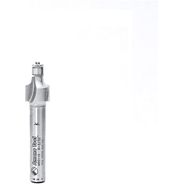 1//8-Inch Radius 1//4-Inch Shank Carbide Tipped Router Bit by Amana Tool Amana Tool MR0112 Corner Rounding with Mini Ball Bearing Guide 7//16-Inch Diameter