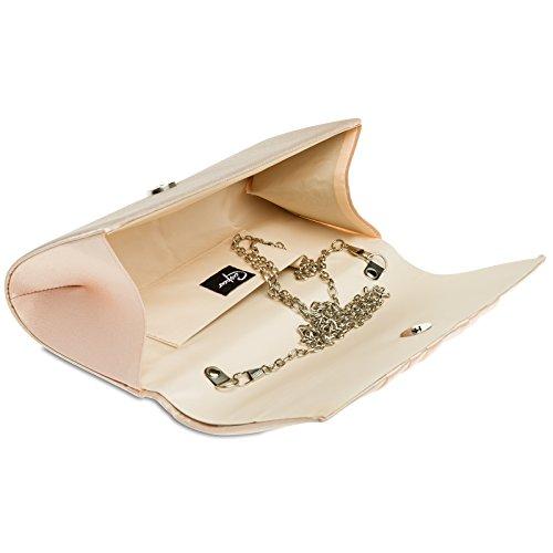 CASPAR Fashion - Cartera de mano para mujer Oro Rosa