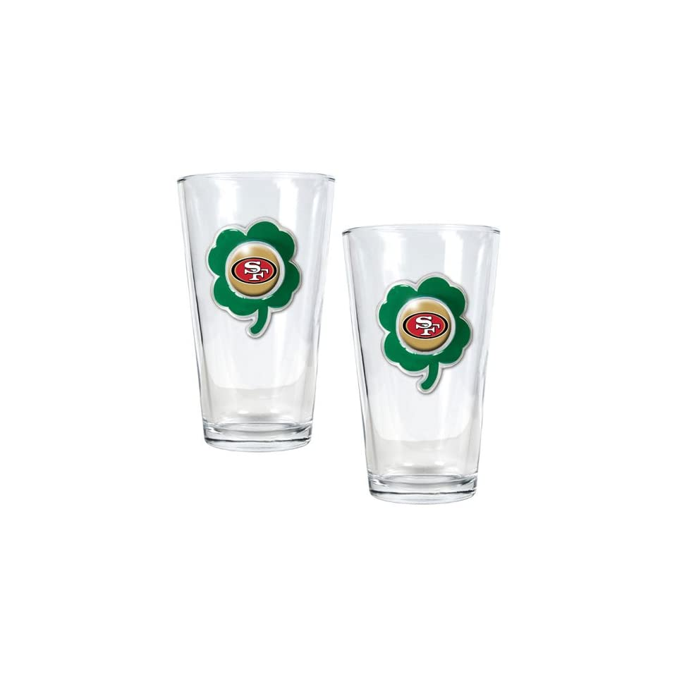 NFL San Francisco 49ers St. Patricks Day 2pc Pint Glass Set