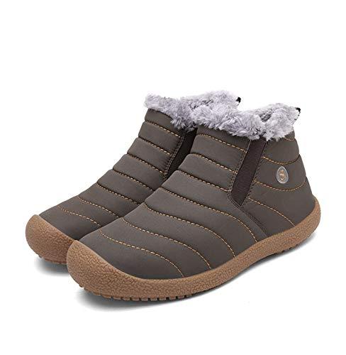 Plus Plus Scarponi in in da in Imbottito Scarpe Velluto Uomo più Neve di Brown NBWE da Cotone Invernale Cotone PXFxwddq