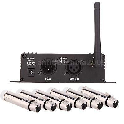 FidgetGear 2.4G Wireless DMX 512 Controller Transmitter Receiver + 6 Female Receiver H3J0 from FidgetGear