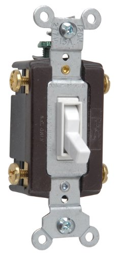 Legrand - Pass & Seymour 664WGCC12 Four Way Toggle Grounding Switch 15-Amp 120-volt, White