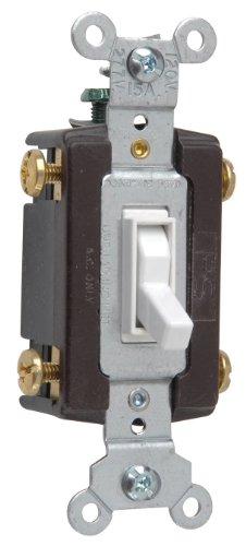 Legrand - Pass & Seymour 664WGCC12 Four Way Toggle Grounding Switch 15-Amp 120-volt, White ()