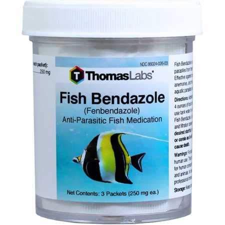 THOMAS LABORATORIES Fish Bendazole (Fenbendazole) 250mg (3 Packets)