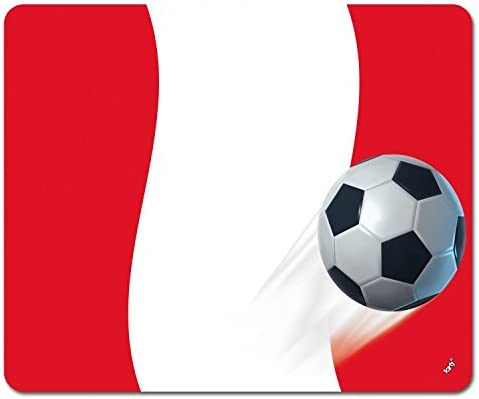 1art1 Fútbol - Bandera De Perú Alfombrilla para Ratón (23 x ...