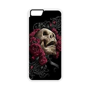 "Custom Colorful Case for Iphone6 Plus 5.5"", Skulls & Rose Cover Case - HL-527031"