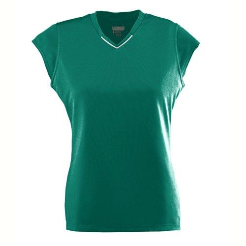 Augusta Sportswear Girls' Rally Jersey L Dark Green/White