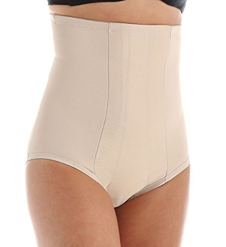 Miraclesuit Shapewear Women's Extra Firm Shape with an Edge Hi-Waist Brief, Nude LG