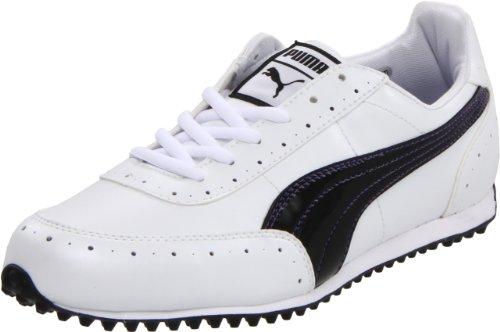 PUMA Women's Golf Cat 2 WNS Golf Shoe,White/Black,6.5 B US
