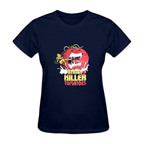 Attack of the Killer Tomatoes Women's Short Sleeve Shirt XXXL Blue