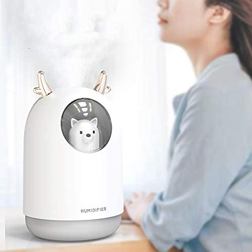 Home 300ml Water Tank Lasts Up to 10 Hours Pink Color Office Waterless Auto Shut-Off for Bedroom HOPEME Cool Mist Humidifier with Adjustable Mist Mode 7 Color LED Lights Changing