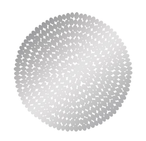Deco 79 Modern Round Perforated Elegant Sculpture Stainless Steel Wall Decor, 31