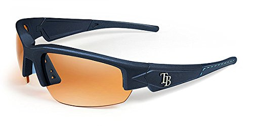 Tampa Bay Rays Sunglasses - Dynasty 2.0 Blue with Blue Tips & Light Blue Stich - Licensed MLB Baseball Merchandise