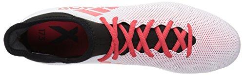 adidas Herren X 17.3 FG Fußballschuh Weiß / echte Koralle / Kernschwarz