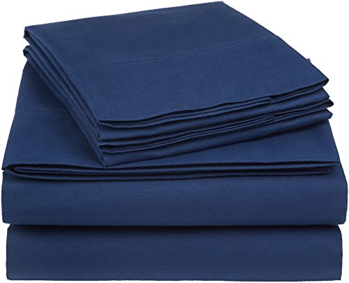 AmazonBasics Essential Cotton Blend Bed Sheet Set