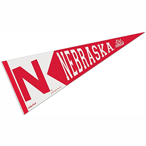 Nebraska Cornhuskers College Vault and Throwback Pennant - Nebraska Pennant