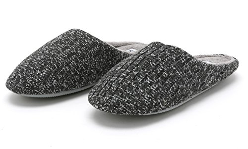 Pembrook Ladies Cable Knit Slippers – Comfortable Memory Foam Indoor and Outdoor Non-Skid Sole - Great Plush Slip on House Shoes for adults, women, girls