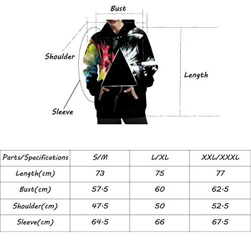 Fashion Tasche Libero Baggy Taglie Stampato Casuale Donne Tempo Cappuccio Nero Pullover Con Pattern Felpa Autunno Manica nbsp; Lunga Donna Forti Eleganti Unisex Hoodies 0F6nqaUT