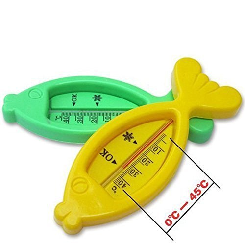 Lovely Colourful Plastic Fish Floating Toy ,Baby Bath Tub Water Sensor Thermometer(Ramdom Color)
