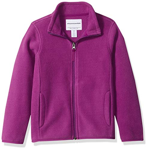 Amazon Essentials Girl's Full-Zip Polar Fleece Jacket, Plum Purple, Large (Fleece Kids Jacket)