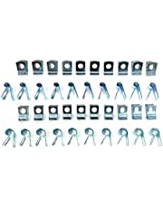 The Stop Shop Brake and Fuel Line Clip Assortment, 3/16, 1/4, 5/16 and 3/8 Inch Clips - (10 of each size)