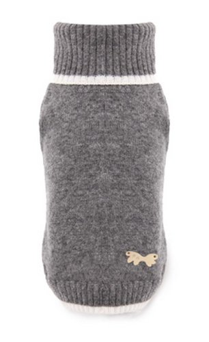 Puppy Angel Pullover Kaschmir Turtleneck grau